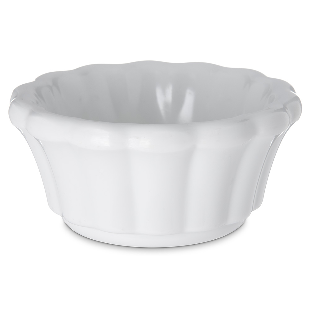 Carlisle 4394302 3-oz Scalloped Ramekin - White