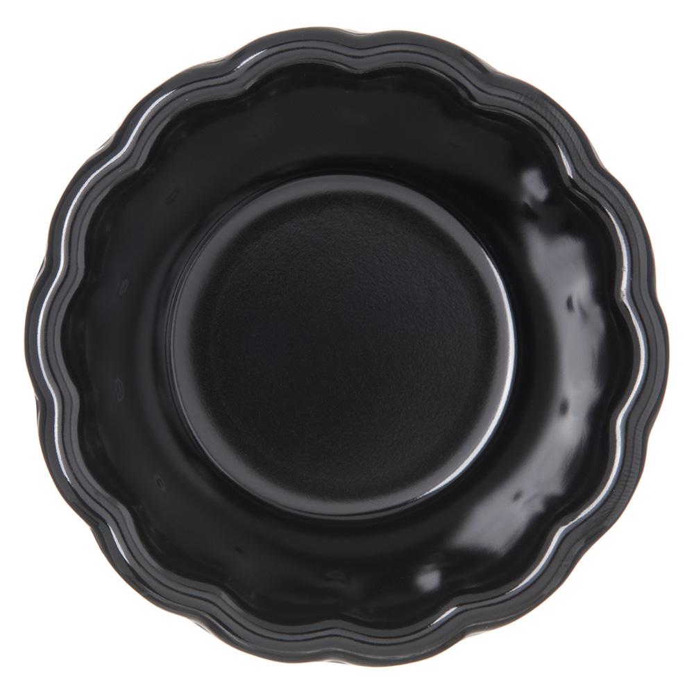 "Carlisle 4394403 3.33"" Round Ramekin w/ 3-oz Capacity, Melamine, Black"