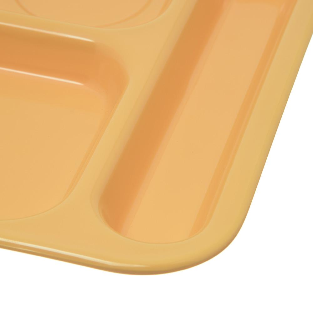 "Carlisle 4398834 Rectangular Tray w/ (6) Compartments, 14.5"" x 10"", Melamine, Bright Yellow"