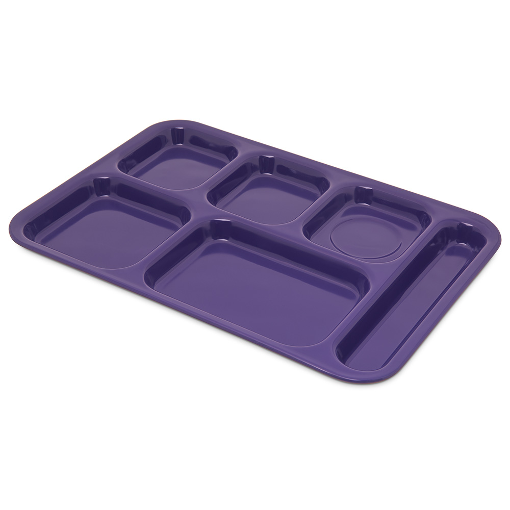 "Carlisle 4398887 (6)Compartment Tray - Right-Handed, 14-1/2x10"" Purple"