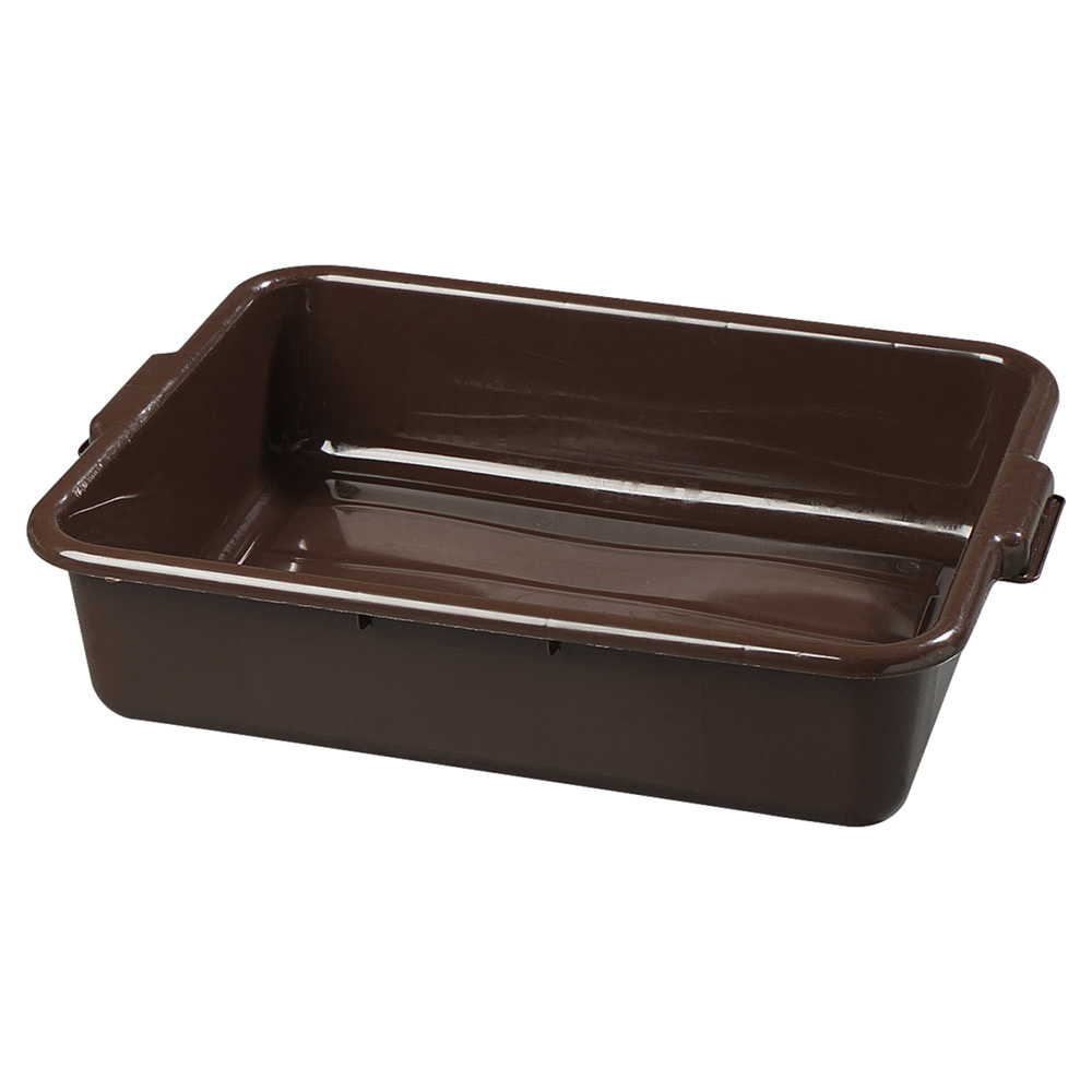 Carlisle 4401001 1-Compartment Scratch-Resistant Bus Box, 20 x 15 x 5-in, Brown
