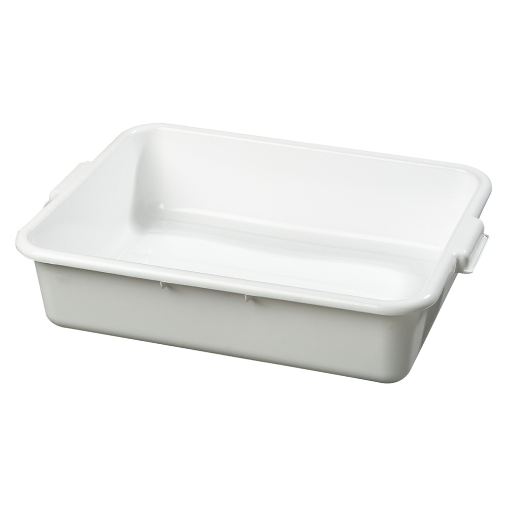 "Carlisle 4401002 1-Compartment Scratch-Resistant Bus Box, 20 x 15 x 5"", White"