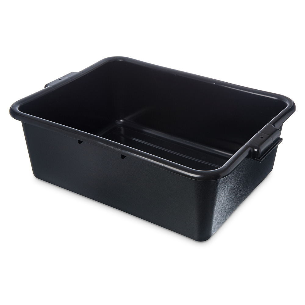"Carlisle 4401103 1-Compartment Scratch-Resistant Bus Box, 20 x 15 x 7"", Black"