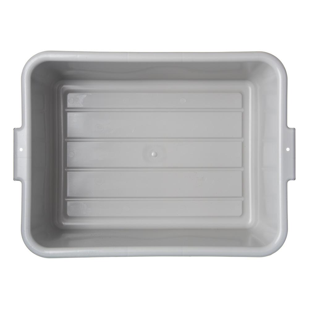Carlisle 4401123 Bus Box w/ (1) Compartment & Handles, Polyethylene, Gray