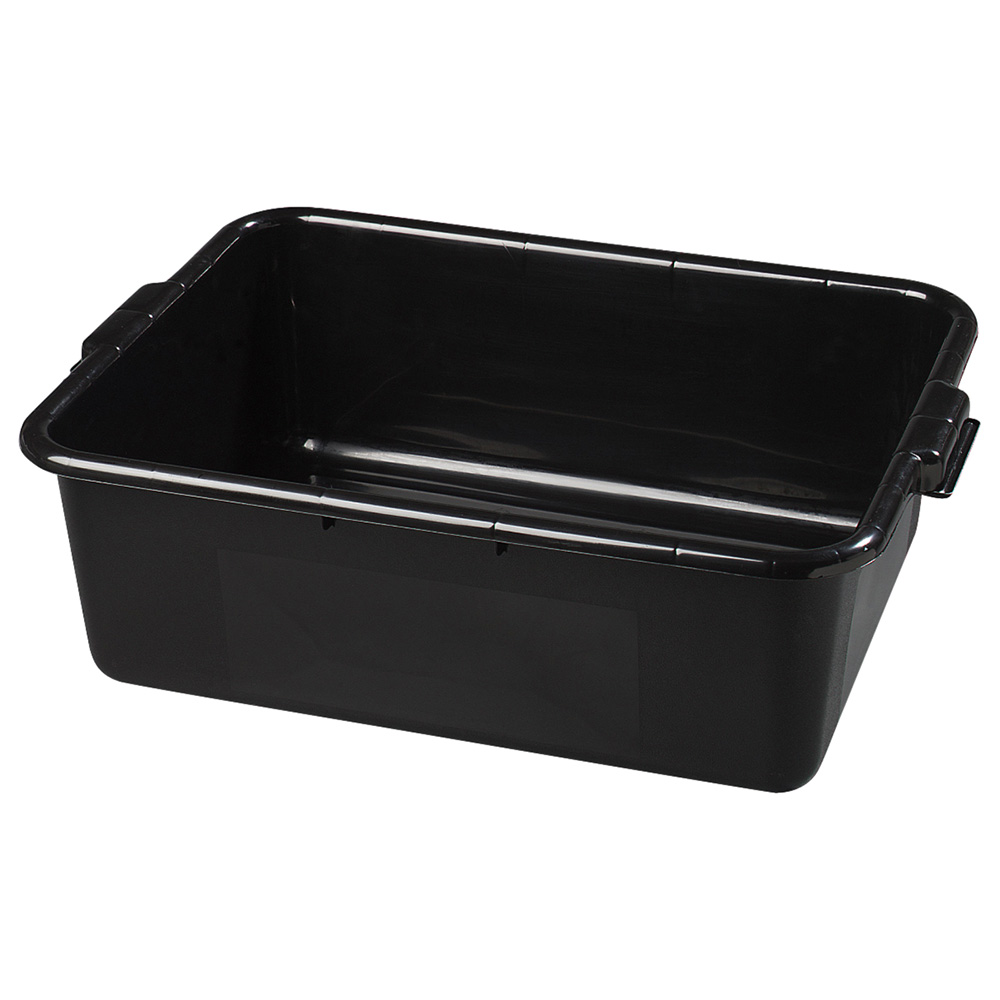 "Carlisle 44011SKD03 Bus Box - 20x15x7"" Polypropylene, Black"