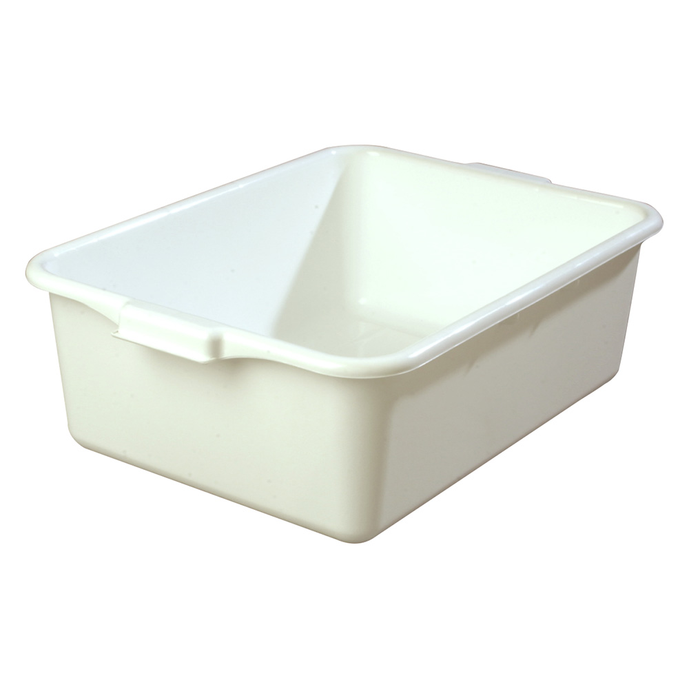 Carlisle 4401102 Bus Box w/ (1) Compartment & Handles, Polyethylene, White