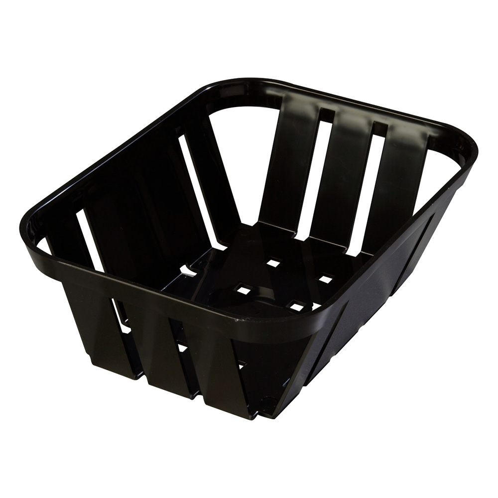 "Carlisle 4403003 Munchie Basket - 7-3/8x5-3/8x2-1/2"" Black"