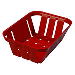 "Carlisle 4403005 Munchie Basket - 7-3/8x5-3/8x2-1/2"" Red"