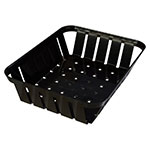 "Carlisle 4403103 Munchie Basket - 10-3/8x8x2-1/2"" Black"