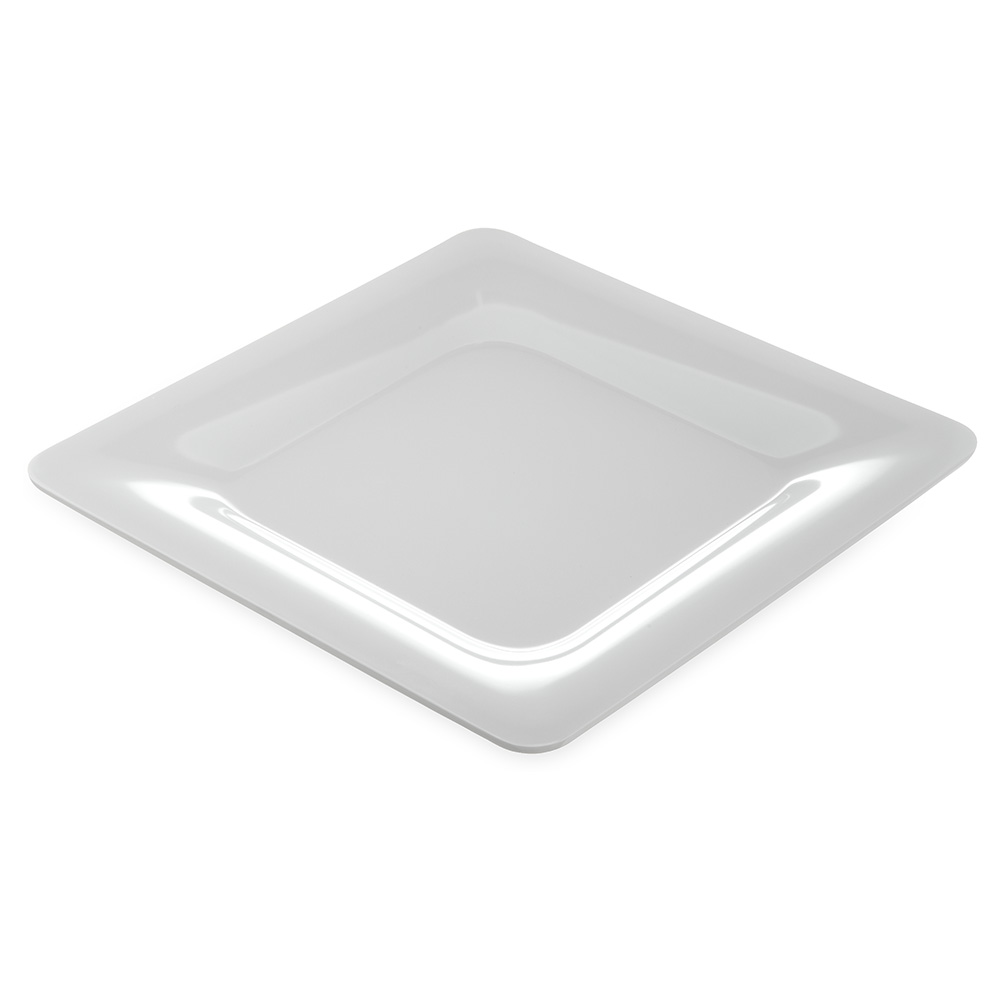 Carlisle Food Service 4440002 Palette Designer Displayware Plate 12 in Wide Rim Square White NSF Restaurant Supply
