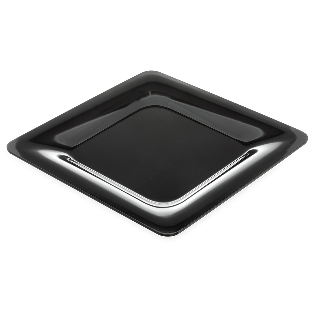 "Carlisle 4440003 12"" Palette Designer Square Plate - Melamine, Black"