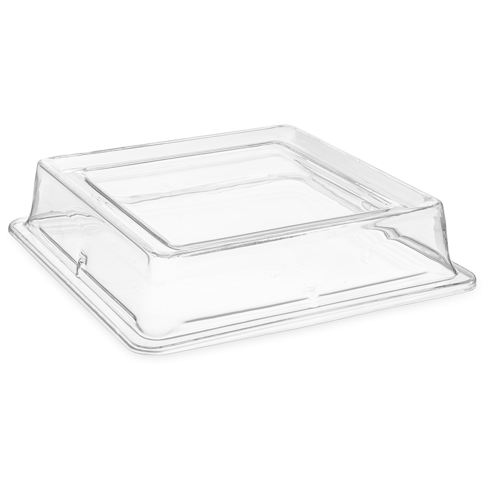 Carlisle 44400C07 Palette Designer Square Plate Cover- Polycarbonate, Clear