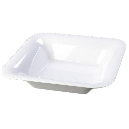"Carlisle 4440202 14"" Pallete Designer Square Bowl - Melamine, White"