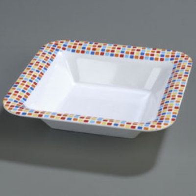 Carlisle 44403917 Palette Designer Displayware Bowl 14 in Square Restaurant Supply