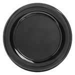 "Carlisle 4440403 15"" Pallete Designer Round Platter - Melamine, Black"