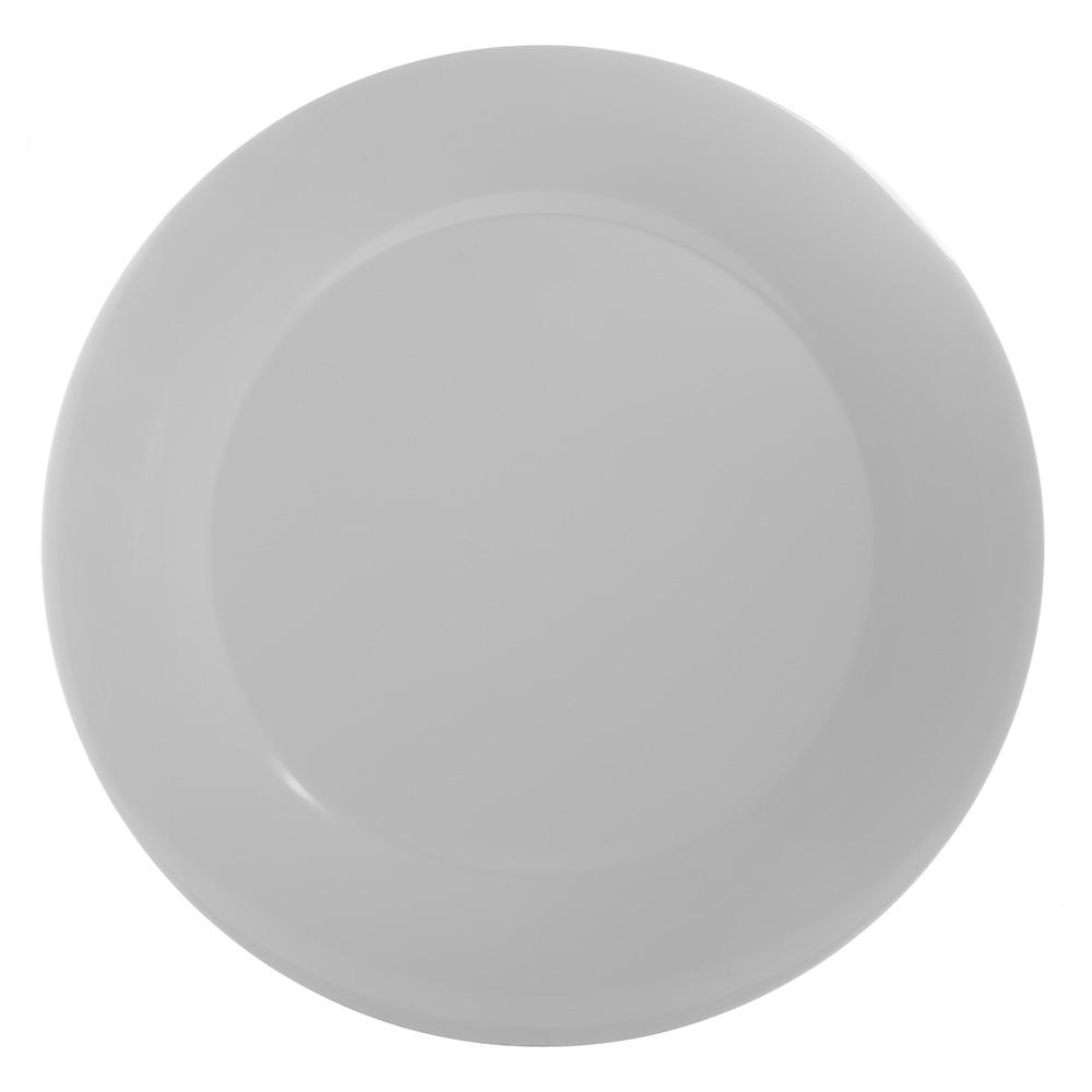"Carlisle 4440602 19"" Pallete Designer Round Platter - Melamine, White"