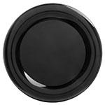 "Carlisle 4440603 19"" Round Platter w/ Wide Rim, Melamine, Black"