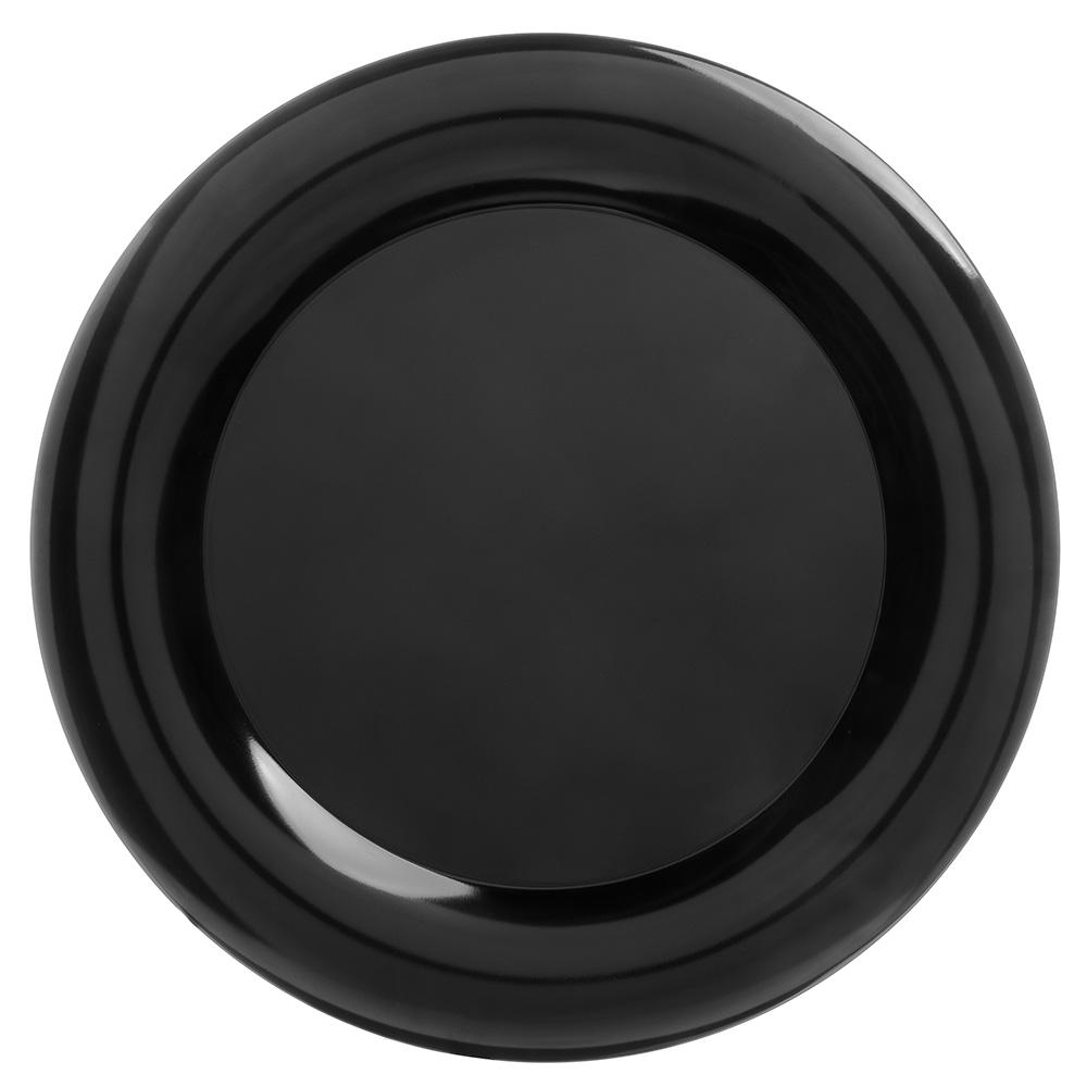 "Carlisle 4440603 19"" Pallete Designer Round Platter - Melamine, Black"