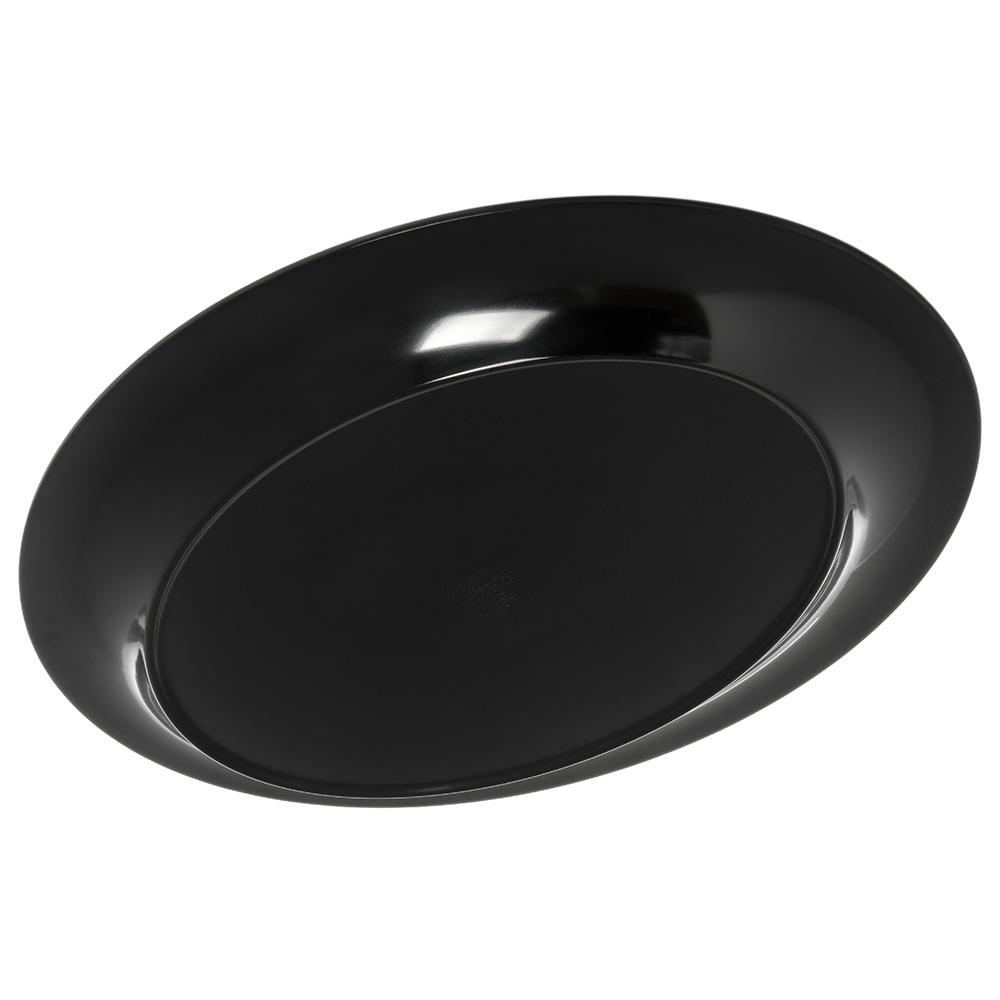 "Carlisle 4441003 Oval Platter w/ Wide Rim, 17"" x 13"", Melamine, Black"