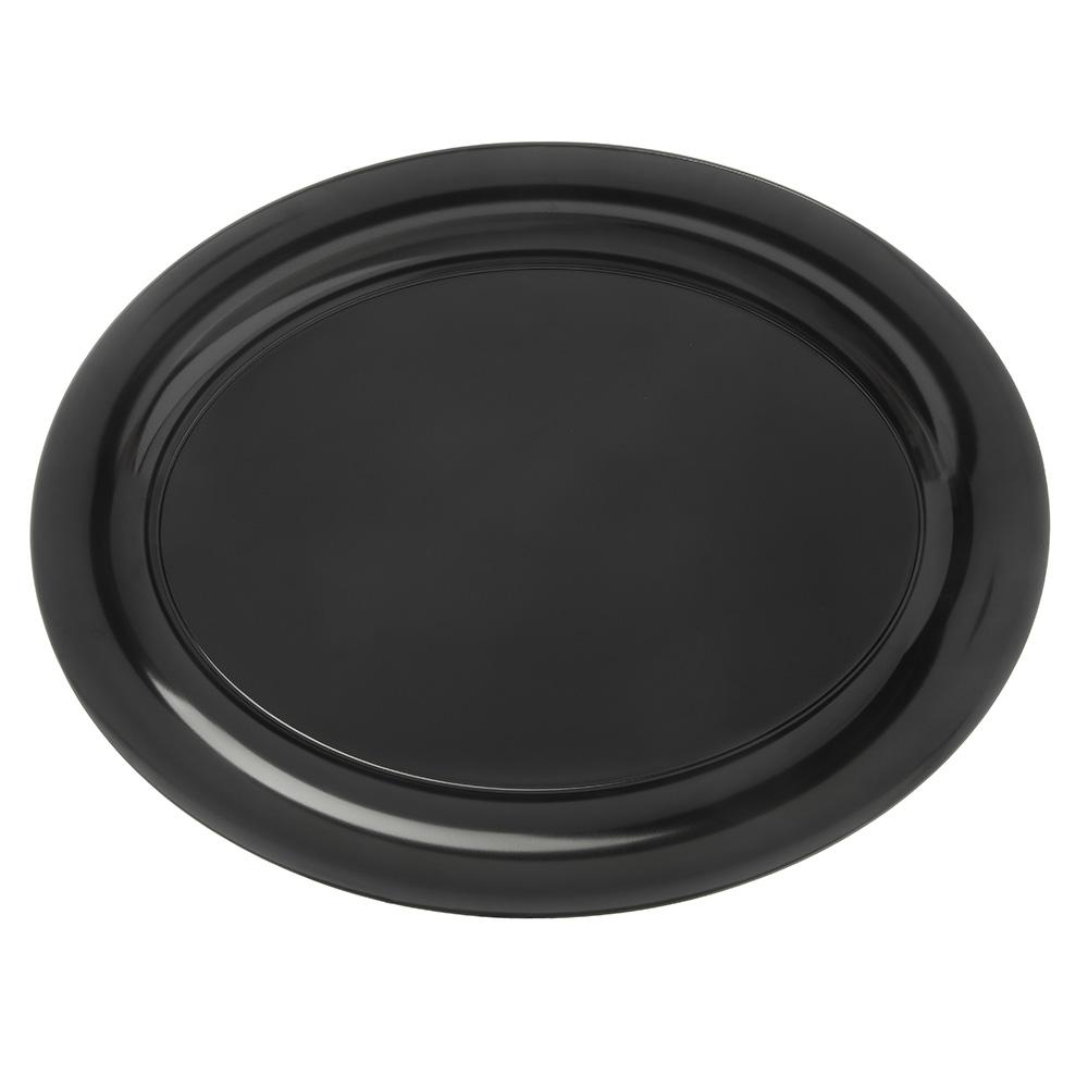 """Carlisle 4441003 Pallete Designer Oval Platter - 17x13"""" Melamine, Black"""