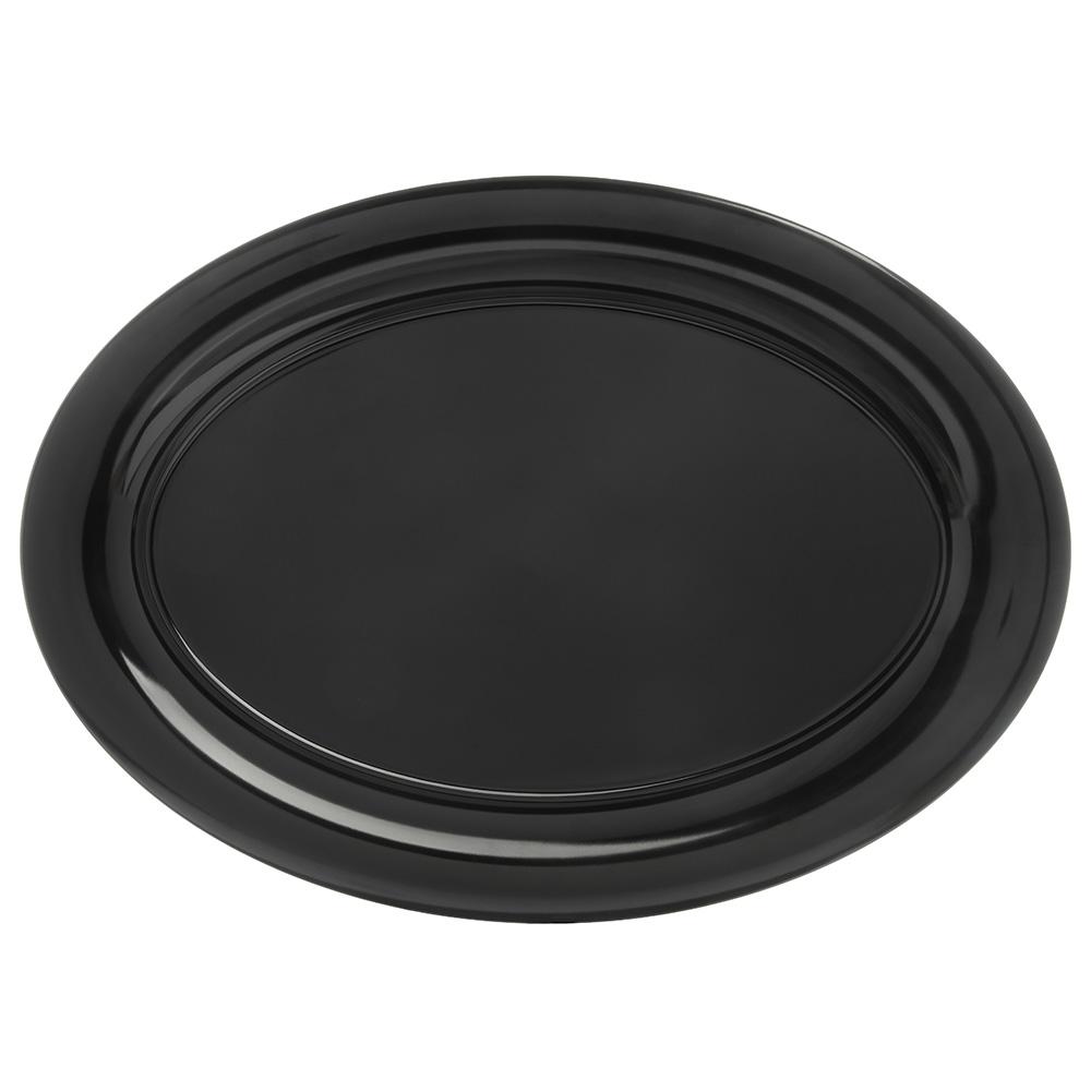 """Carlisle 4441203 Pallete Designer Oval Platter - 21x15"""" Melamine, Black"""
