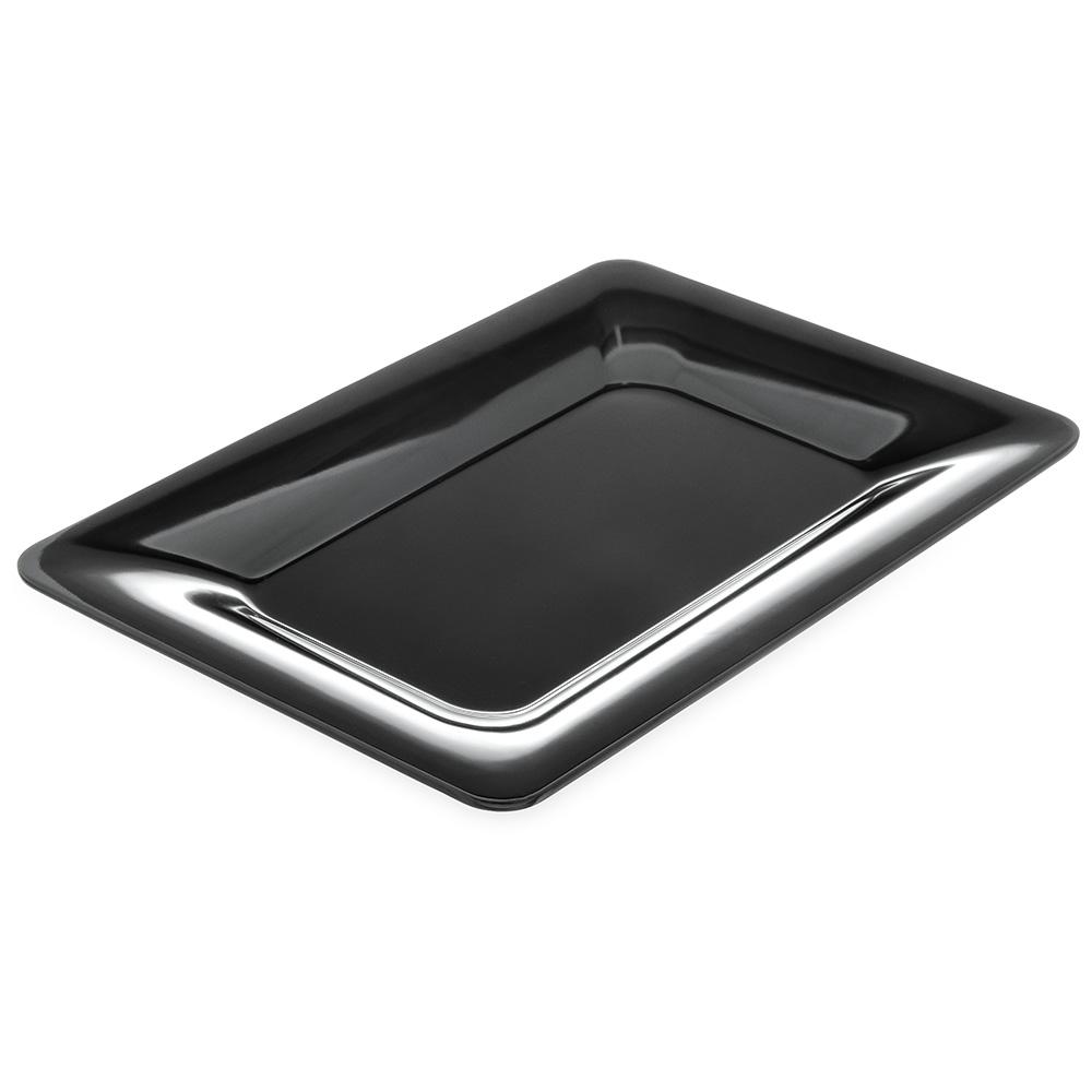 """Carlisle 4441403 Pallete Designer Rectangular Platter - 14x10"""" Melamine, Black"""