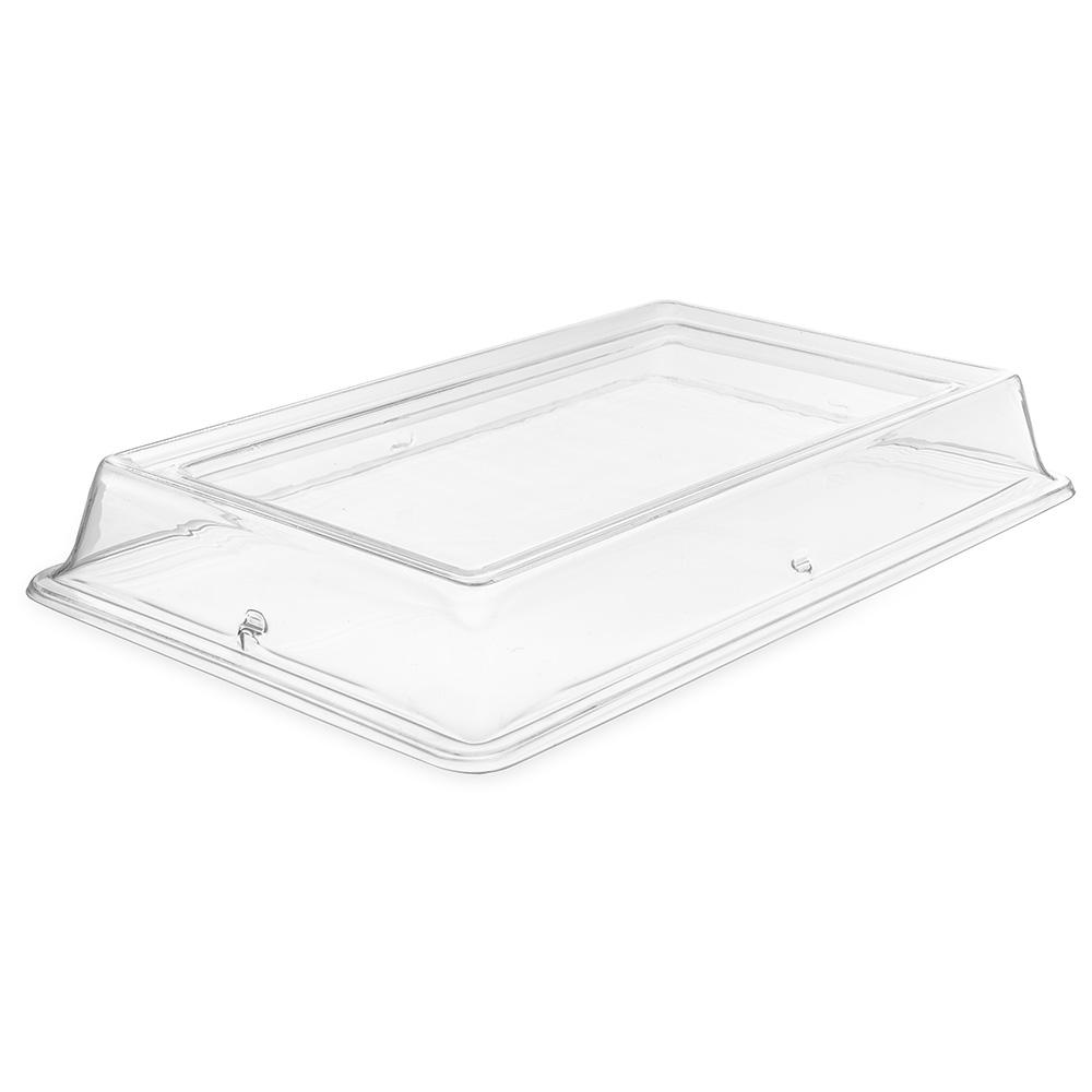 "Carlisle 44414C07 Pallete Designer Oval Platter Cover - 14x10"" Polycarbonate, Clear"