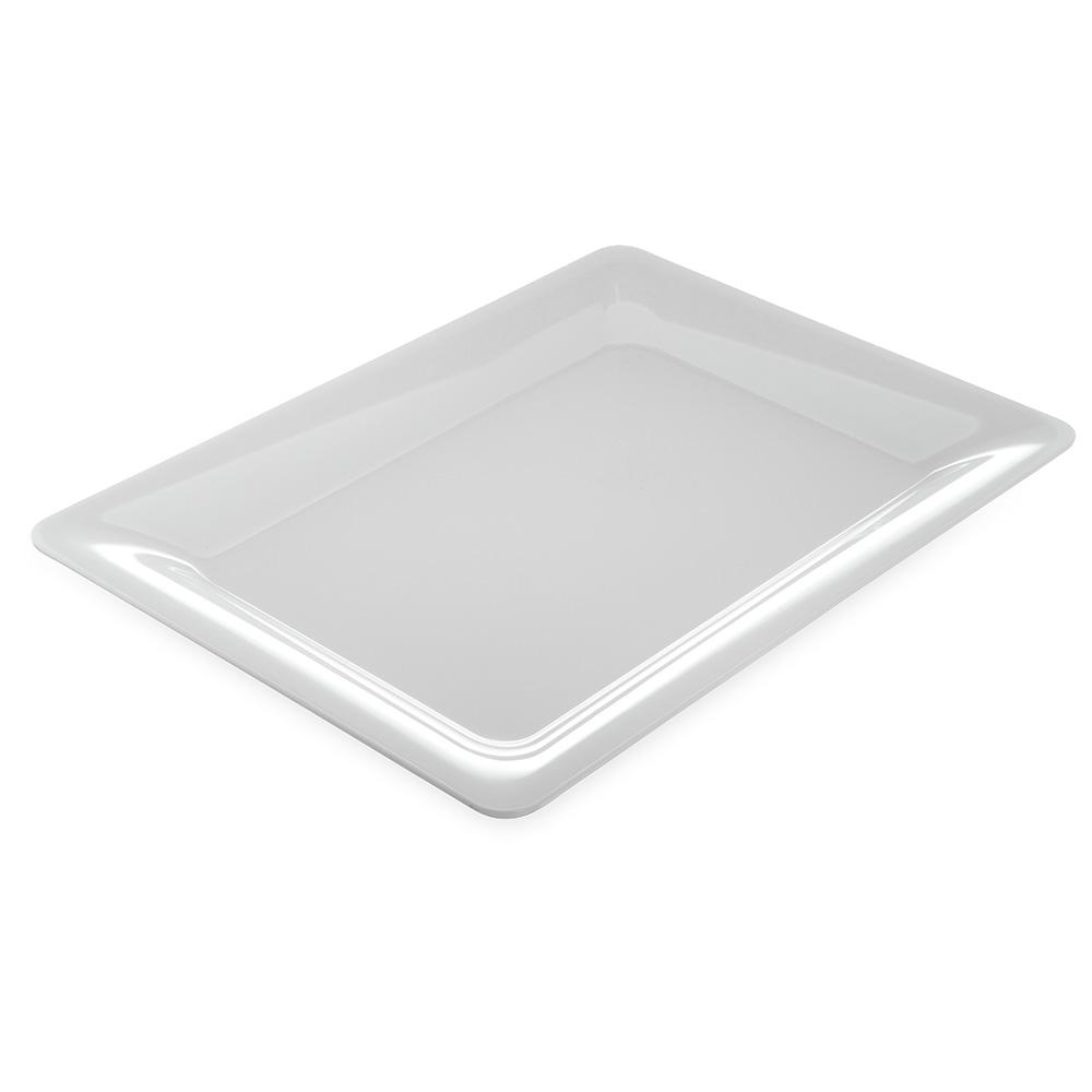 """Carlisle 4441602 Pallete Designer Rectangular Platter - 17x13"""" Melamine, White"""