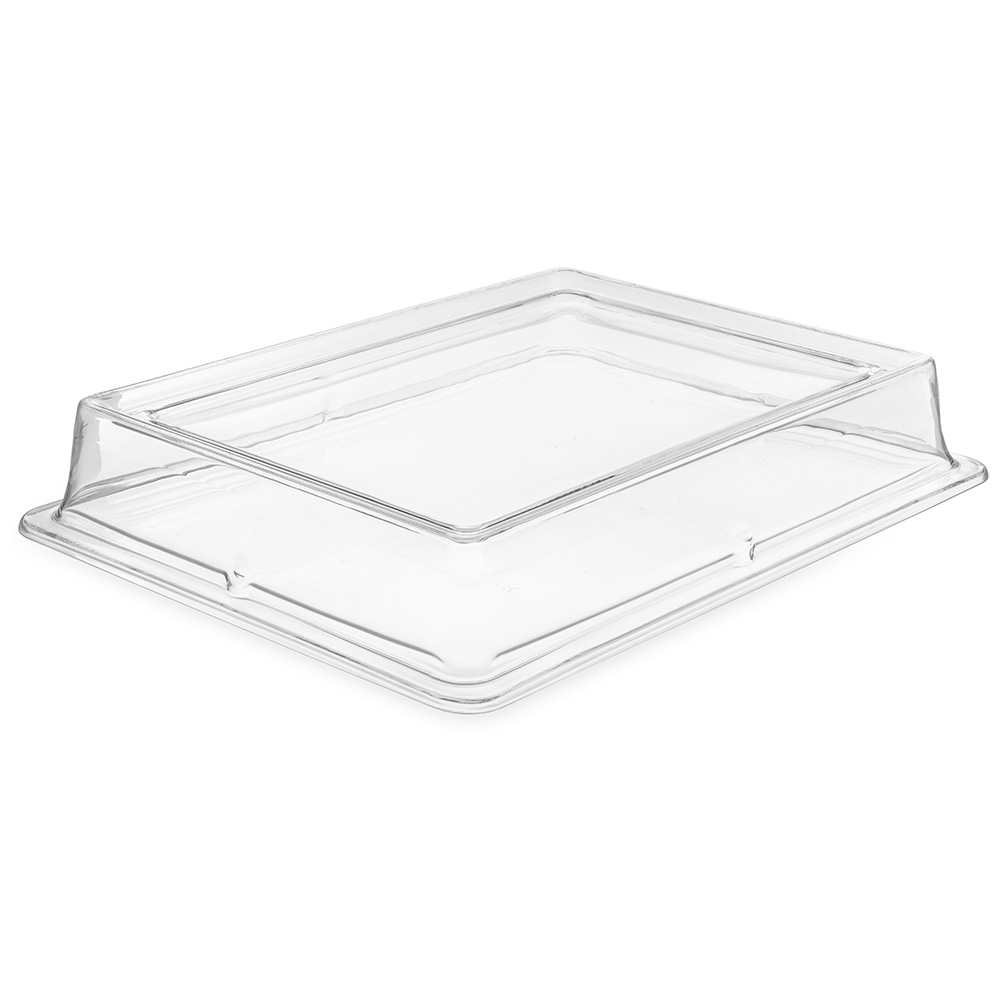 "Carlisle 44416C07 Rectangular Platter Cover - 17"" x 13"", Polycarbonate, Clear"