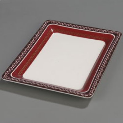 Carlisle Food Service 44417916 Palette Designer Displayware Platter 17 in x 13 in Fresco Design Restaurant Supply