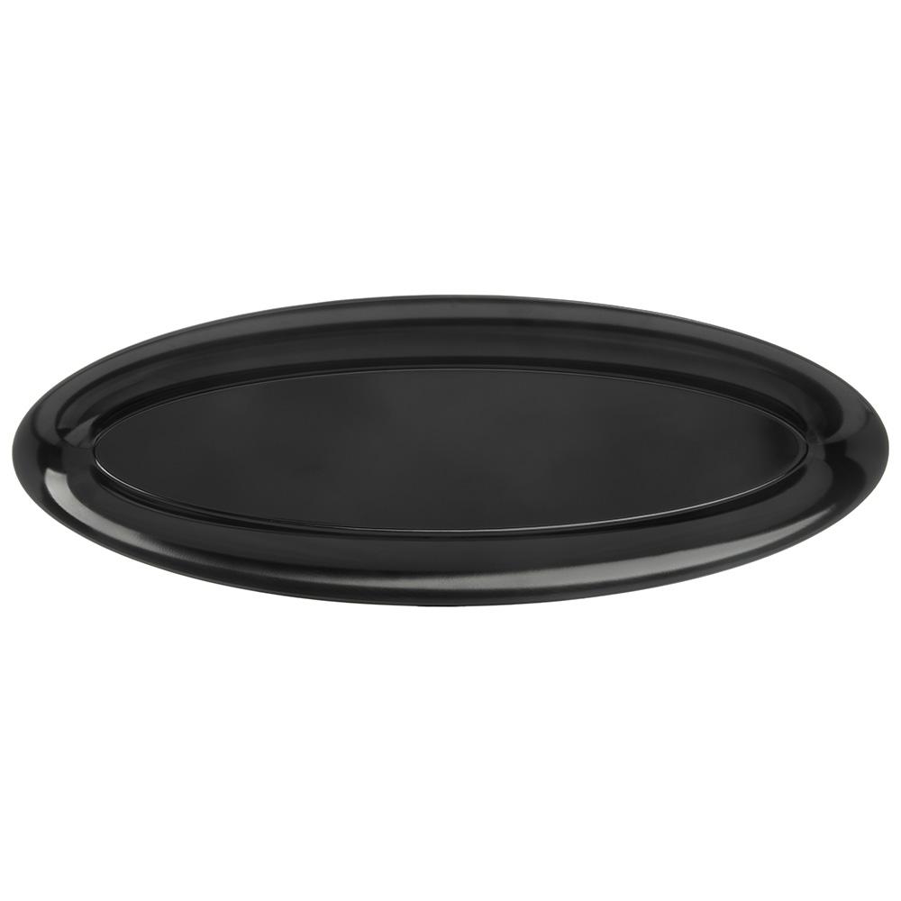 "Carlisle 4441803 Oval Salmon Platter w/ Wide Rim, 22"" x 8"", Melamine, Black"