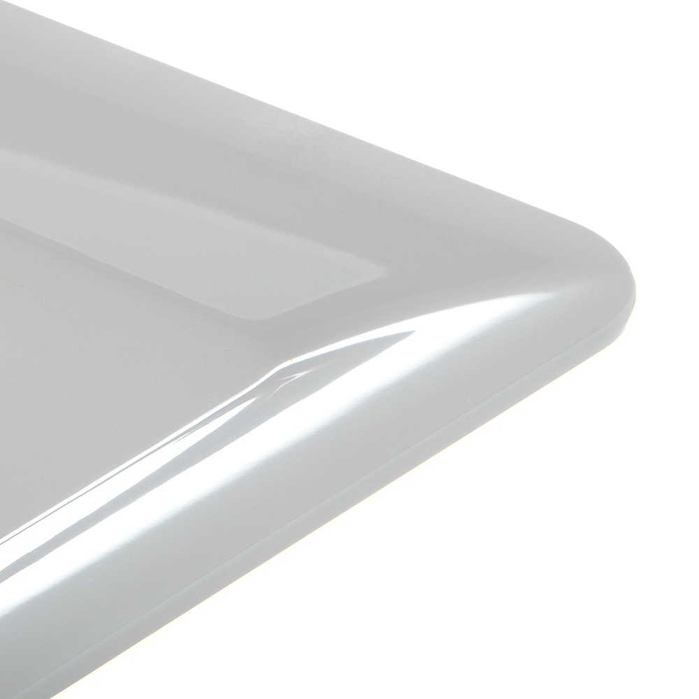 "Carlisle 4442002 Full Size Food Pan - 1""D, Melamine, White"