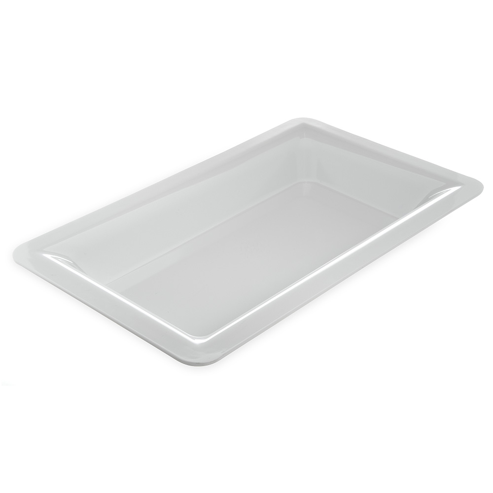 "Carlisle 4442202 Full Size Food Pan - 2.5""D, Melamine, White"