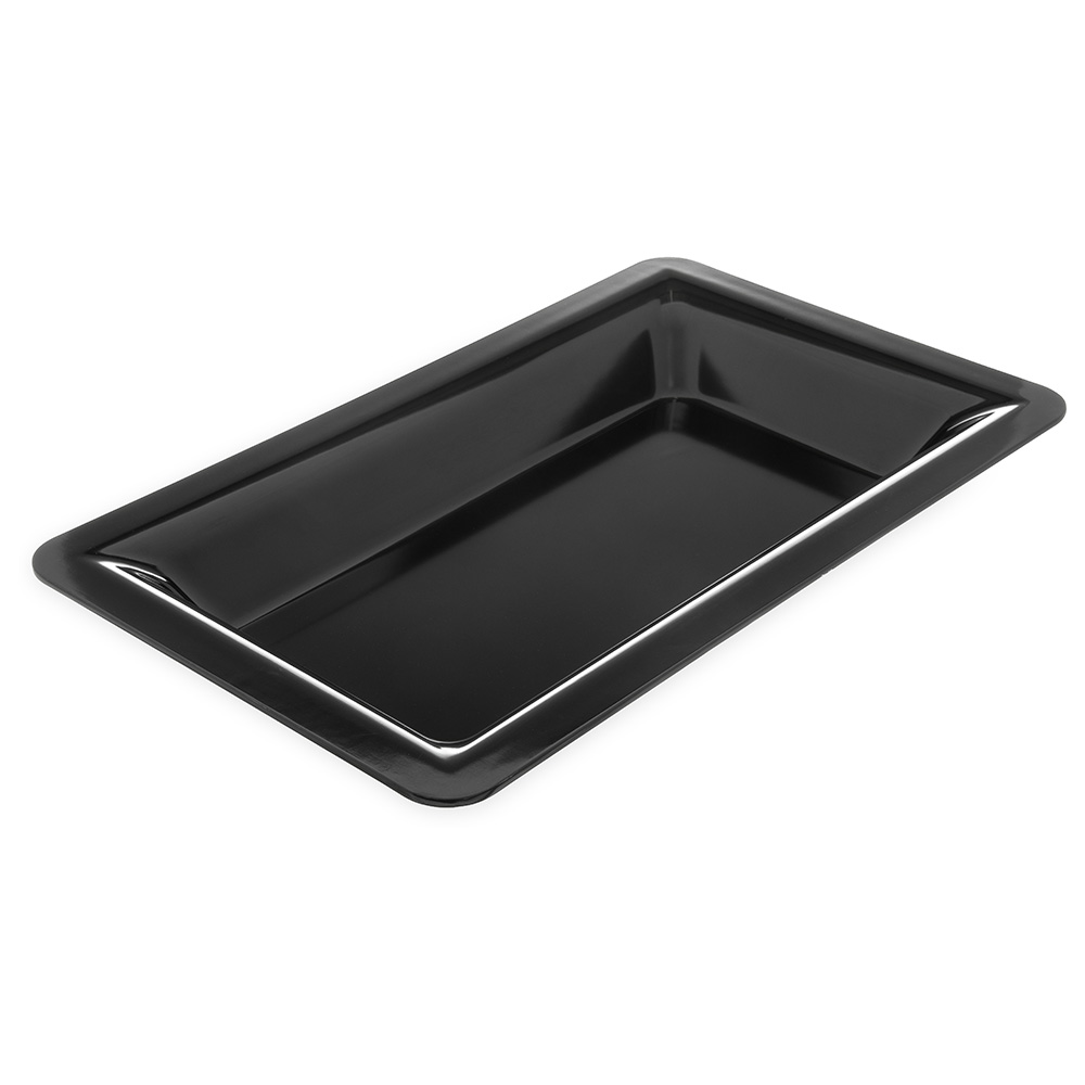 "Carlisle 4442203 Full Size Food Pan - 2-1/2""D, Melamine, Black"