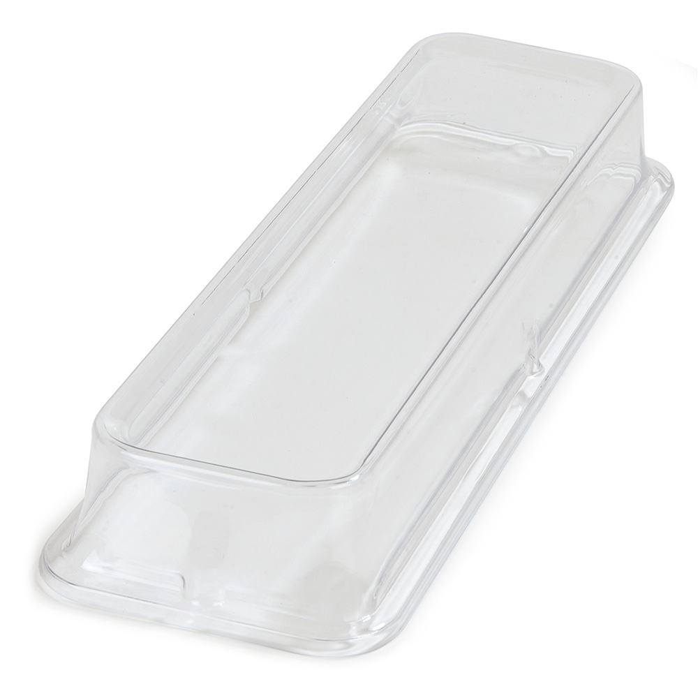 Carlisle 44440C07 Half-Size Long Palette Designer Food Pan Cover - Clear