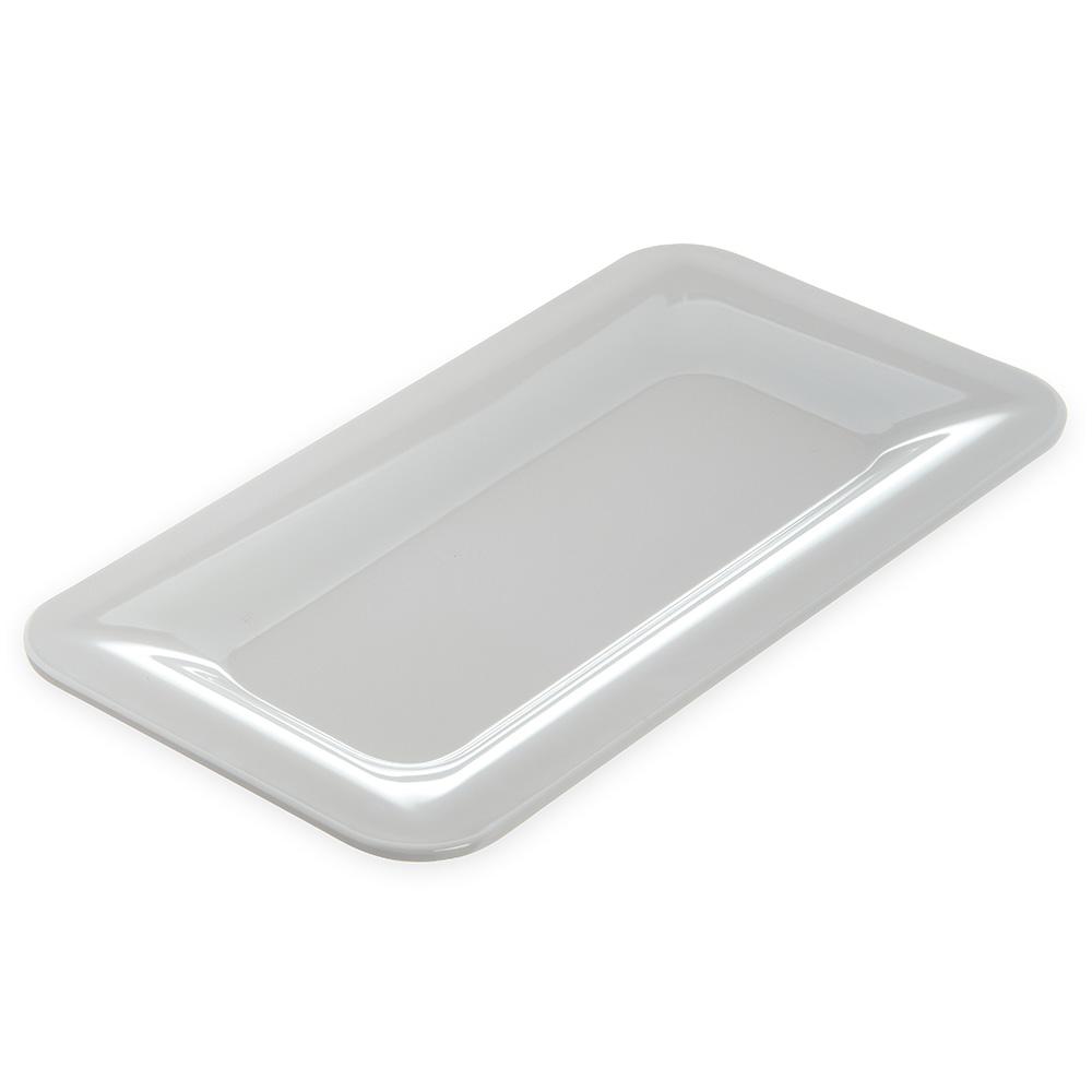 "Carlisle 4446002 1/3 Size Palette Designer Food Pan - 1"" D, White"