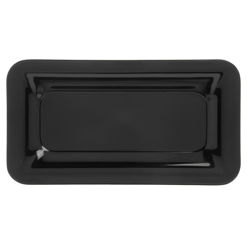 "Carlisle 4446003 Third Size Food Pan - 1""D, Melamine, Black"