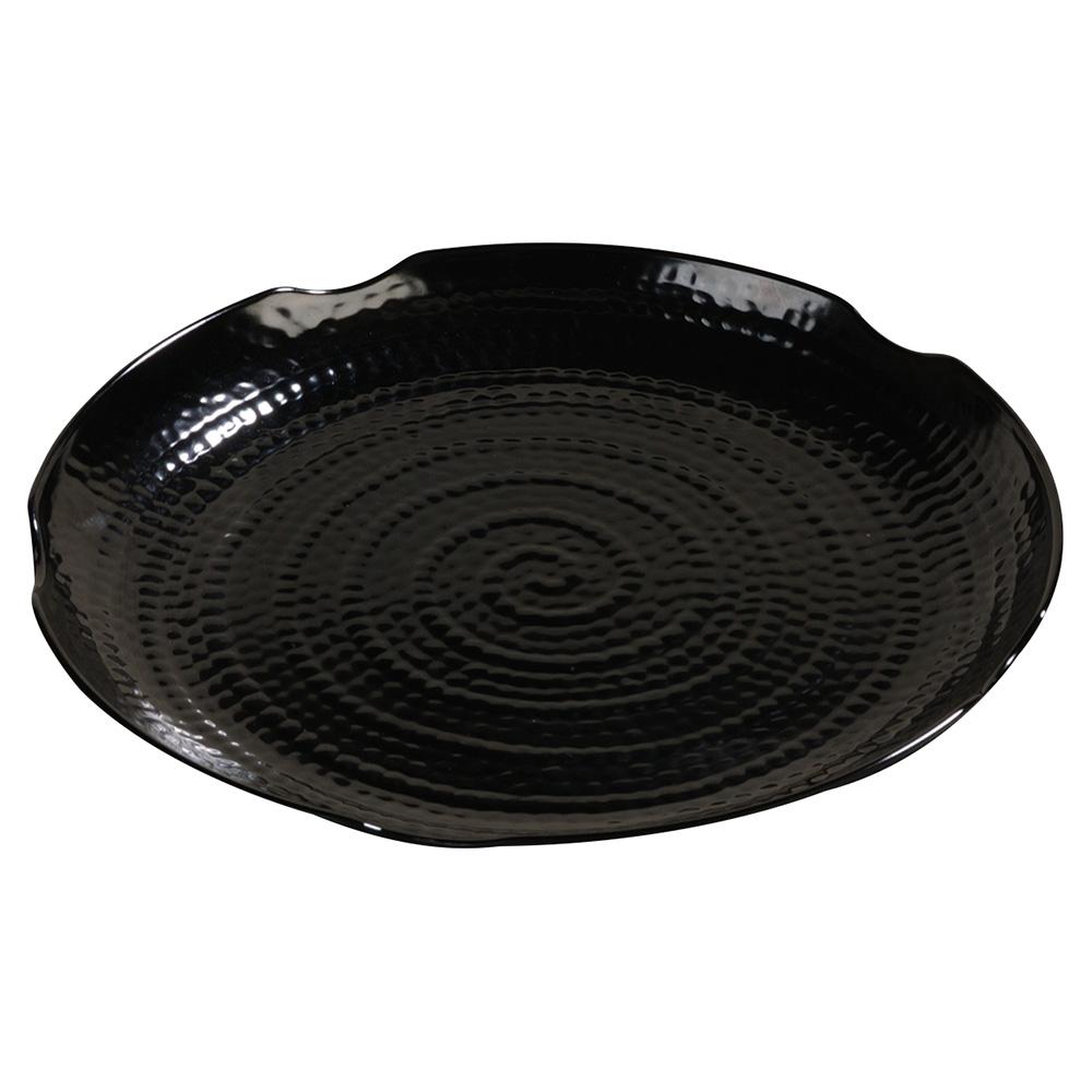 "Carlisle 4451403 14"" Terra Round Platter - Melamine, Black"