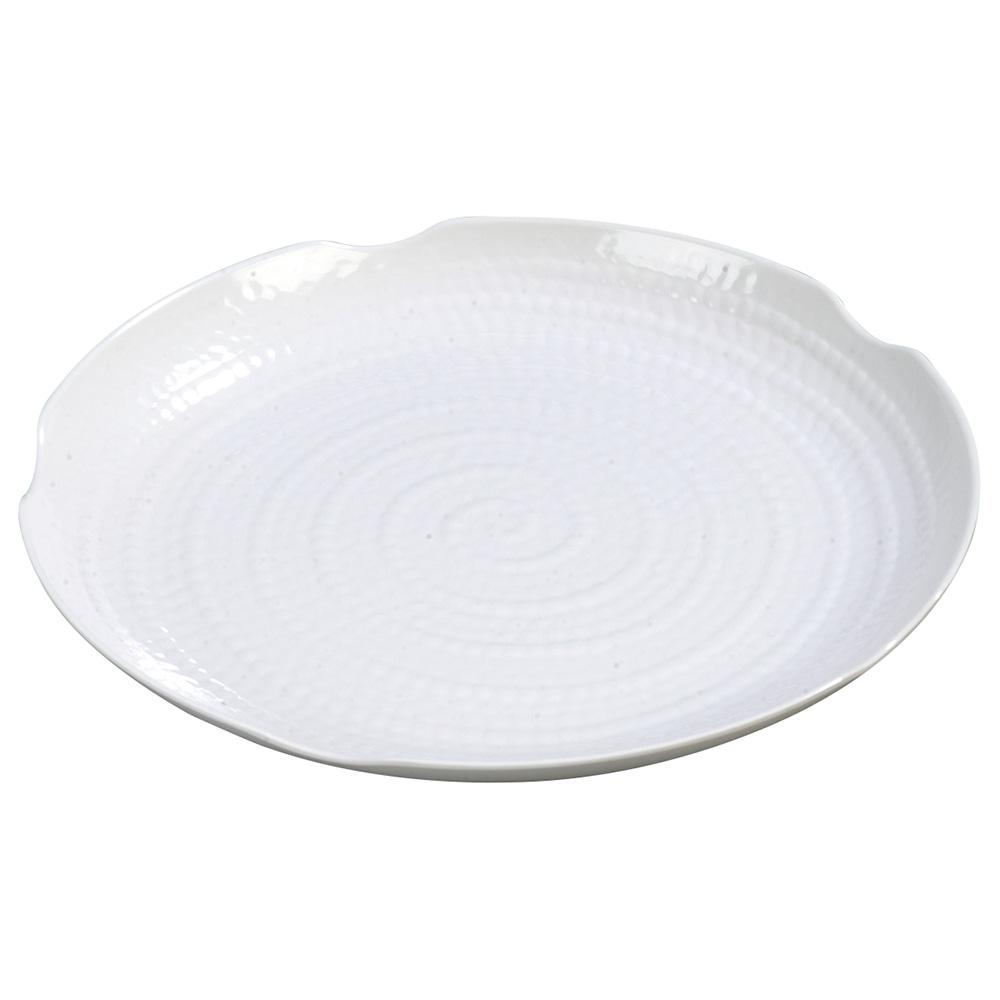 "Carlisle 4451802 18"" Round Platter - Melamine, White"