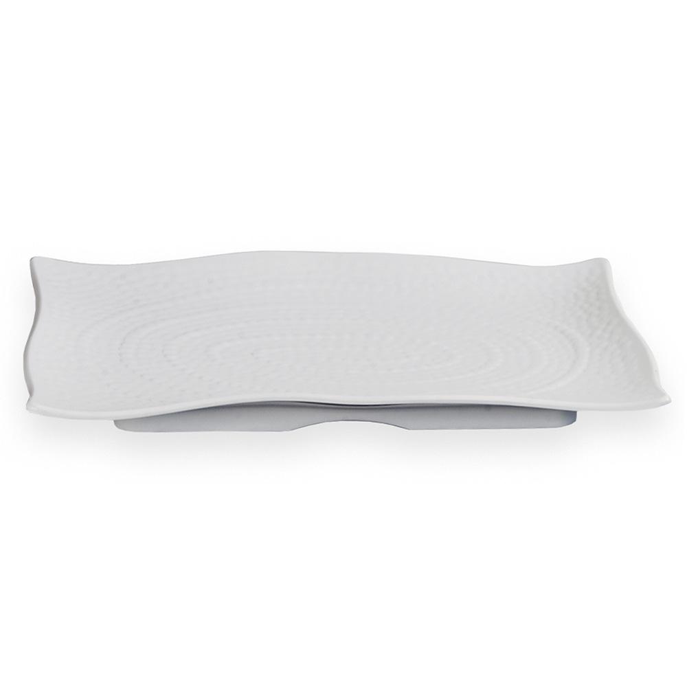 "Carlisle 4452002 Rectangular Terra Platter - 13-1/2x9-1/4"" White"