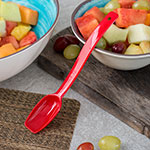 "Carlisle 446005 8""L Solid Salad/Buffet Spoon w/ .5-oz Capacity, Plastic, Red"