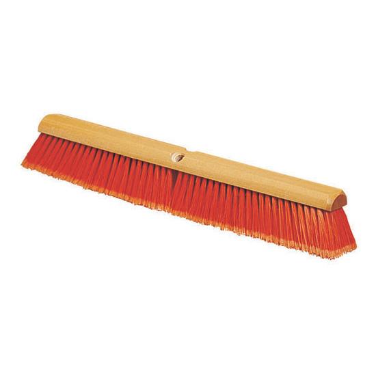 """Carlisle 4501324 18"""" Floor Sweep - Fine, Hardwood Block, Flagged Poly Bristles, Orange"""