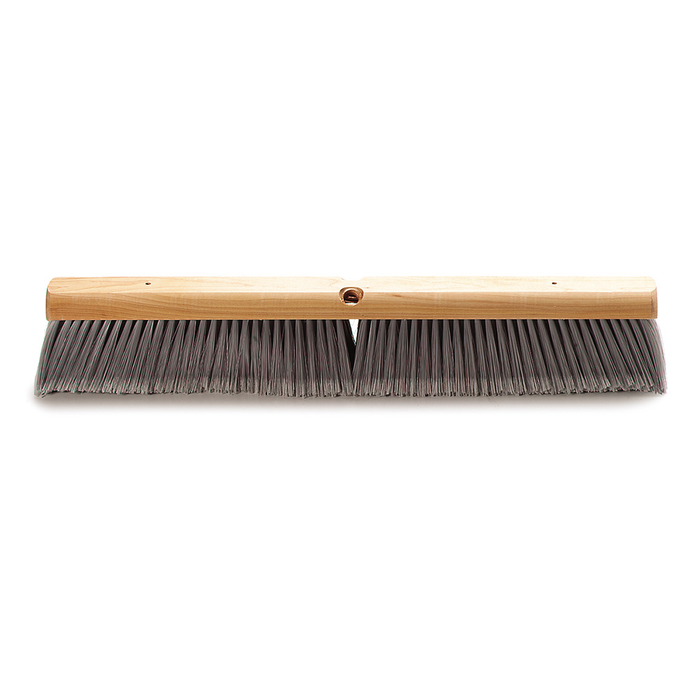 "Carlisle 4501423 24"" Floor Sweep - Hardwood Block, Flagged Poly Bristles, Gray"