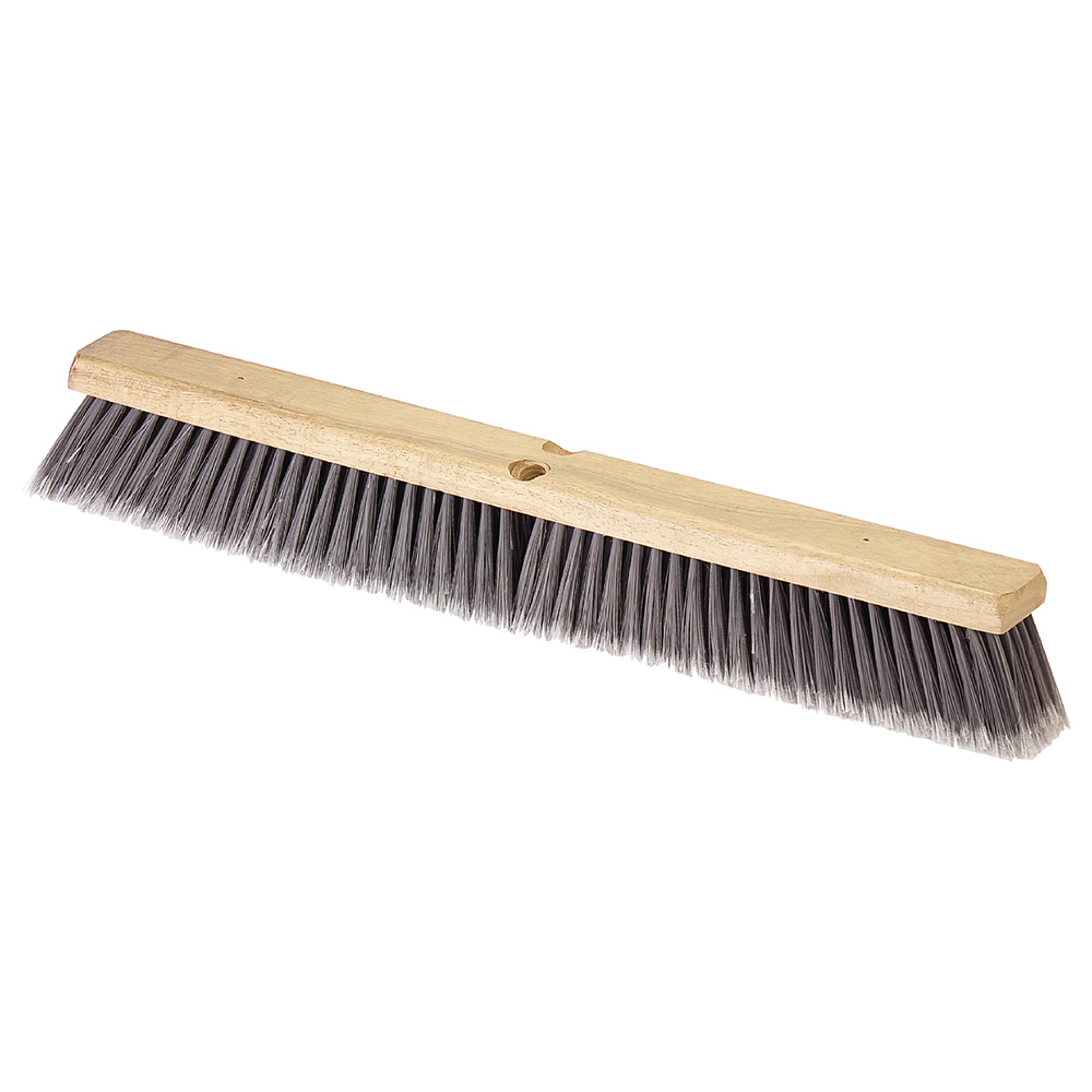 "Carlisle 4501623 36"" Floor Sweep - Hardwood Block, Flagged Poly Bristles, Gray"