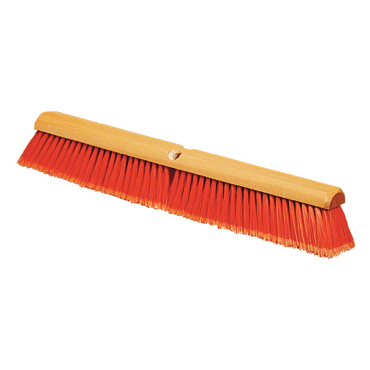 "Carlisle 4501624 36"" Floor Sweep - Fine, Hardwood/Polypropylene, Orange"