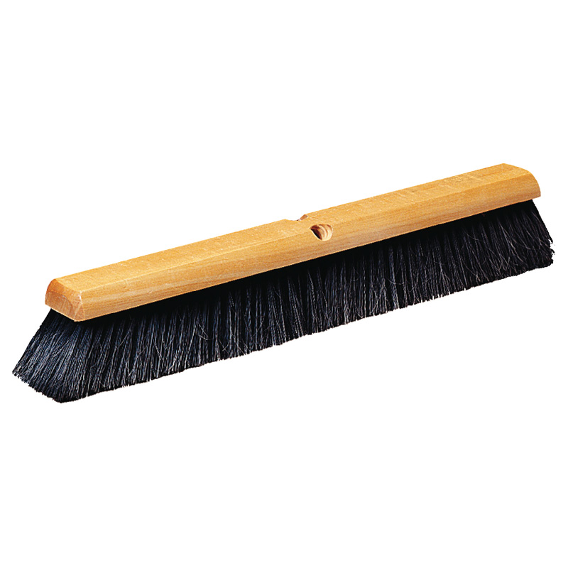 "Carlisle 4503003 18"" Push Broom Head w/ Horsehair & Polypropylene Bristles, Black"