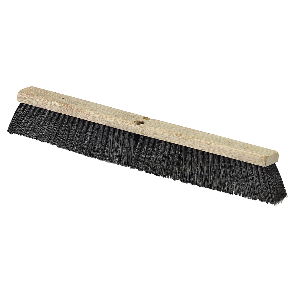 "Carlisle 4504103 24"" Floor Sweep - Fine/Medium, Hardwood Block, Black Tampico/Horsehair Bristles"