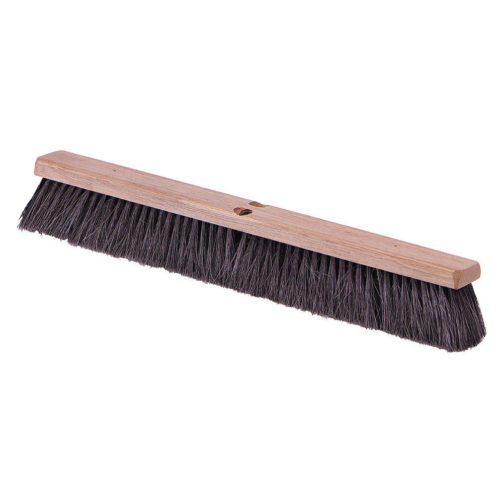 "Carlisle 4505103 14"" Floor Sweep - Fine/Medium, Hardwood/Tampico, Black"
