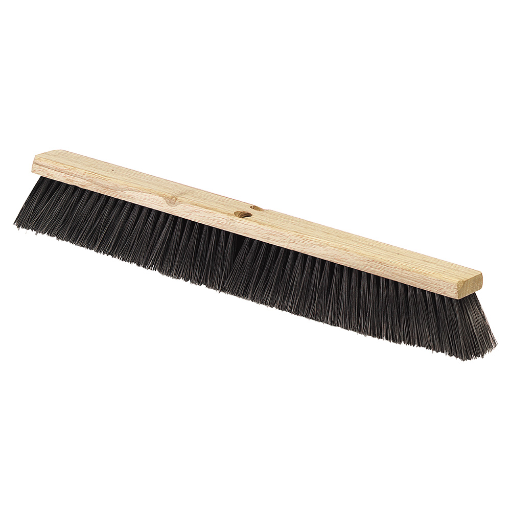"Carlisle 4507303 24"" Floor Sweep - Fine/Medium, Hardwood Block, 3"" Black Poly Bristles"