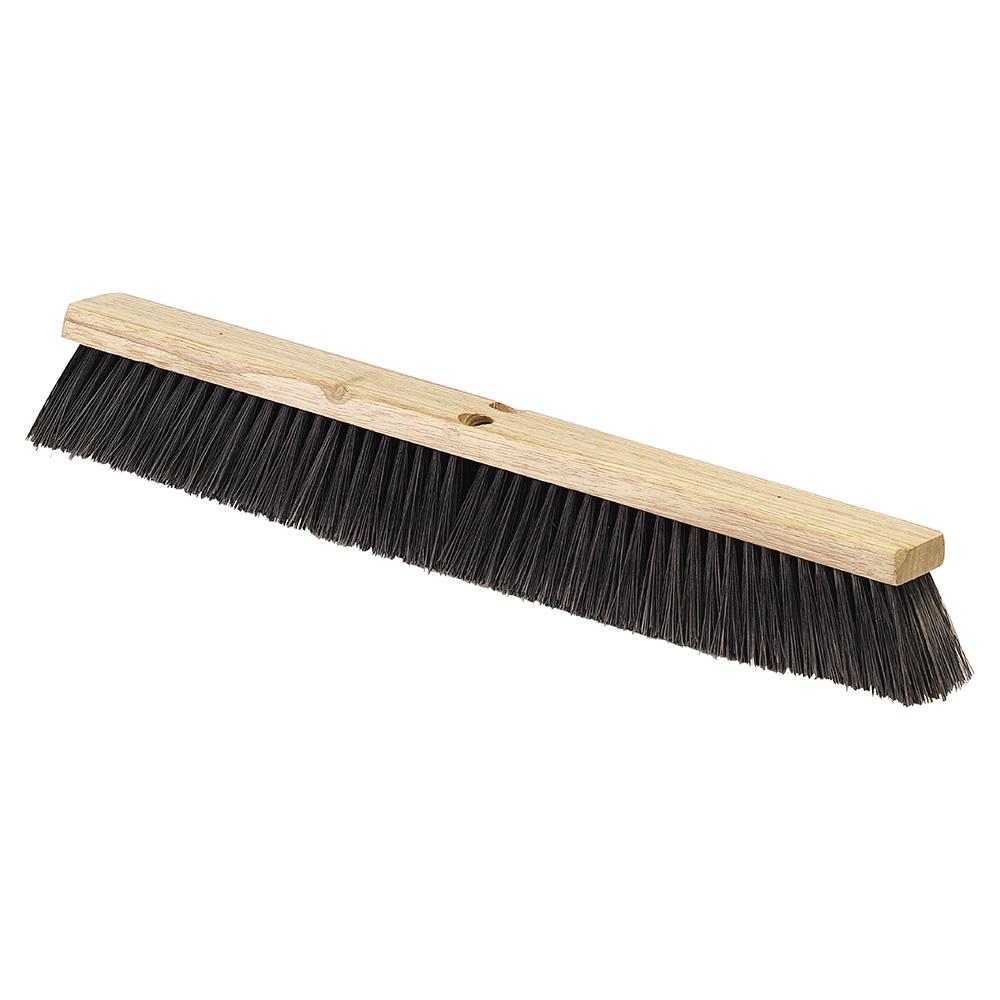 """Carlisle 4507403 36"""" Floor Sweep - Fine/Medium, Hardwood Block, Black Poly Bristles"""